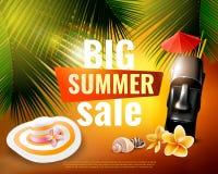 Hawaiian Summer Sale Poster royalty free illustration