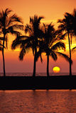 Hawaiian Sunset Royalty Free Stock Images