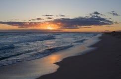 Hawaiian Sunset 3. Landscape of a Hawaiian sunset over the ocean at the beach Stock Photography