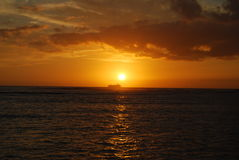 Hawaiian sunset Royalty Free Stock Photo
