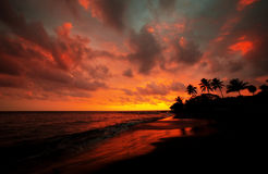 Hawaiian sunset Royalty Free Stock Photography