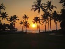 Hawaiian Sunset. On Big Island Hawaii royalty free stock photos