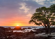 Hawaiian Sunset Glow Royalty Free Stock Photo