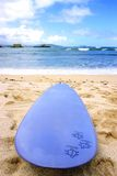 Hawaiian Surfboard. This image shows a surfboard on an idyllic Hawaiian beach Stock Images