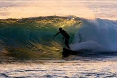 Hawaiian Surfing Stock Photo