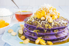 Hawaiian taro pancakes Royalty Free Stock Image
