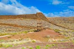 Hawaiian temple ruins Stock Photo