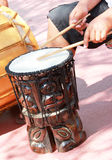 Hawaiian Tiki Drum Stock Photography