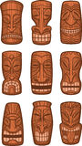 Hawaiian tiki god statues Stock Image