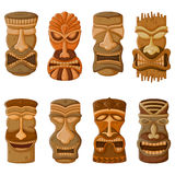 Hawaiian Tiki tribal mask vector illustration