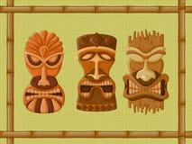 Hawaiian Tiki tribal mask Royalty Free Stock Images
