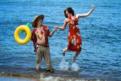 Hawaiian Tourists Royalty Free Stock Photos