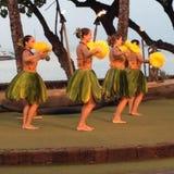 HAWAIIAN TRADITIONAL HULASHOW Stock Photography