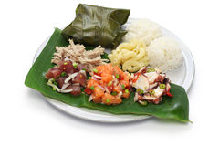 Hawaiian traditional plate lunch Stock Images