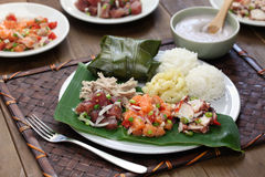 Hawaiian traditional plate lunch Royalty Free Stock Photography