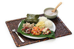 Hawaiian traditional plate lunch Stock Photography