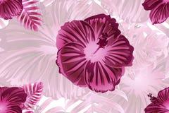 Hawaiian tropic jungle endless print. stock illustration