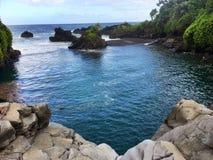 Hawaiian tropical coastline - the Road to Hana Stock Photo