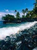 Hawaiian tropical coastline - the Road to Hana Royalty Free Stock Image