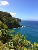 Hawaiian tropical coastline - the Road to Hana Stock Photos