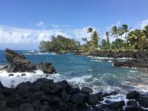 Hawaiian tropical coastline - the Road to Hana Royalty Free Stock Photos