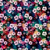 Hawaiian tropical floral seamless pattern. Royalty Free Stock Image