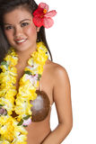 Hawaiian Tropical Woman Stock Photo
