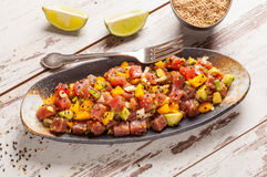 Hawaiian tuna poke royalty free stock images
