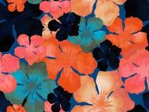 Hawaiian watercolor pattern. stock photo