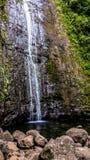 Hawaiian waterfall stock photo