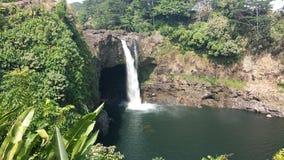 Hawaiian waterfall Royalty Free Stock Photography