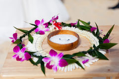 Hawaiian wedding ceremony Royalty Free Stock Photography