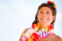 Hawaiian woman Royalty Free Stock Images