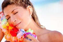 Hawaiian woman Stock Image