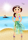 Hawaiian woman Royalty Free Stock Image