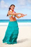 Hawaiian woman dancing Royalty Free Stock Images