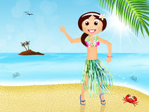 Hawaiian woman Royalty Free Stock Photos