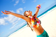 Hawaiian woman relaxing Stock Photos