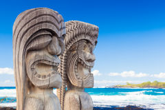Hawaiian wood carving Royalty Free Stock Image