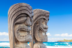 Hawaiian wood carving Stock Photos
