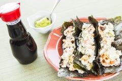 Hawaiianer gebratene Sushi-Tacos Stockfotos