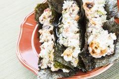 Hawaiianer gebratene Sushi-Tacos Lizenzfreie Stockfotos