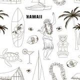 Hawaiianer, gesetztes Muster Hawaiis Lizenzfreie Stockfotos