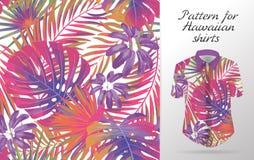 Hawaiiboaloha skjorta en symbol i en plan stil som isoleras på vit bakgrund vektor illustrationer