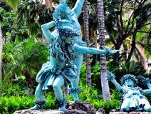 Hawaiin雕象 免版税图库摄影