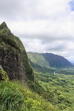 Hawaiische Berglandschaft stockfoto