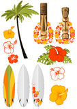 Hawaiische Restattribute Stockbild