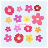 Hawaiischer Blumenvektorsatz lizenzfreie abbildung