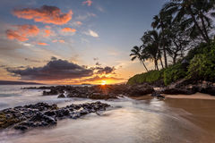 Hawaiischer Paradies-Sonnenuntergang stockfotografie