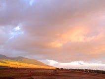 Hawaiischer Sonnenuntergang Stockbild